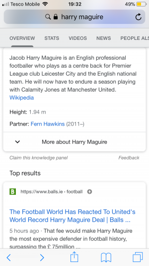 Another wikipedia entry - harry maguire